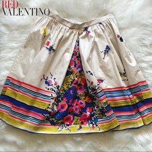 Authentic RED VALENTINO Floral Skirt